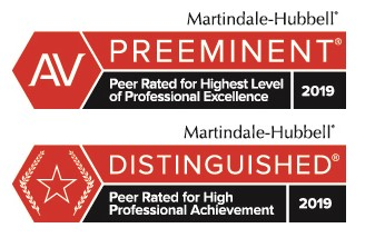 Martindale-Hubbell®, Peer Rated for High Professional Achievement, 2019